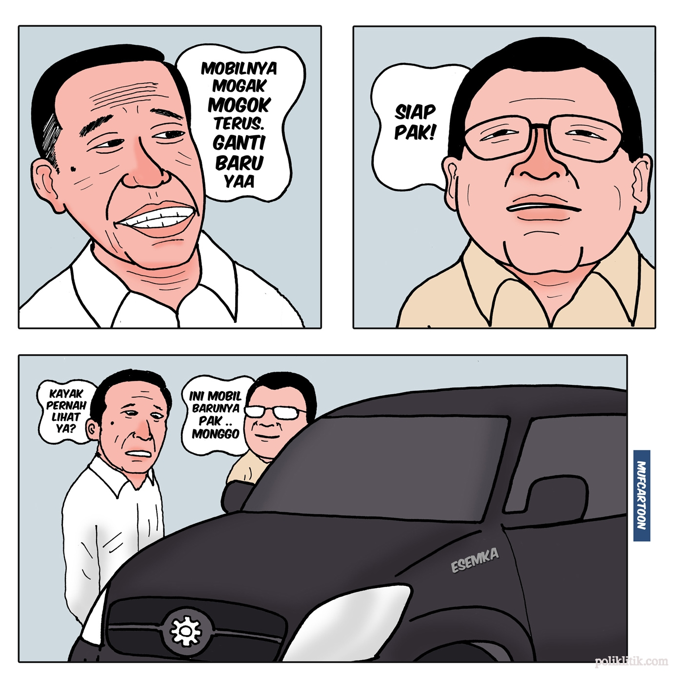 Mobil Jokowi Mogok