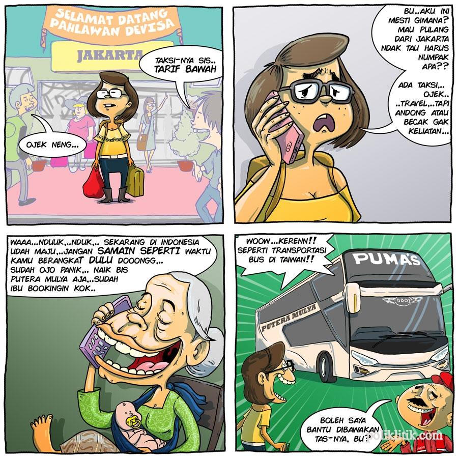 Bus Angkutan Mudik Lebaran