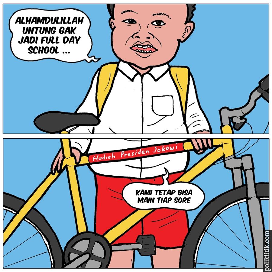Presiden Jokowi Batalkan Kebijakan Sekolah 8 Jam Sehari