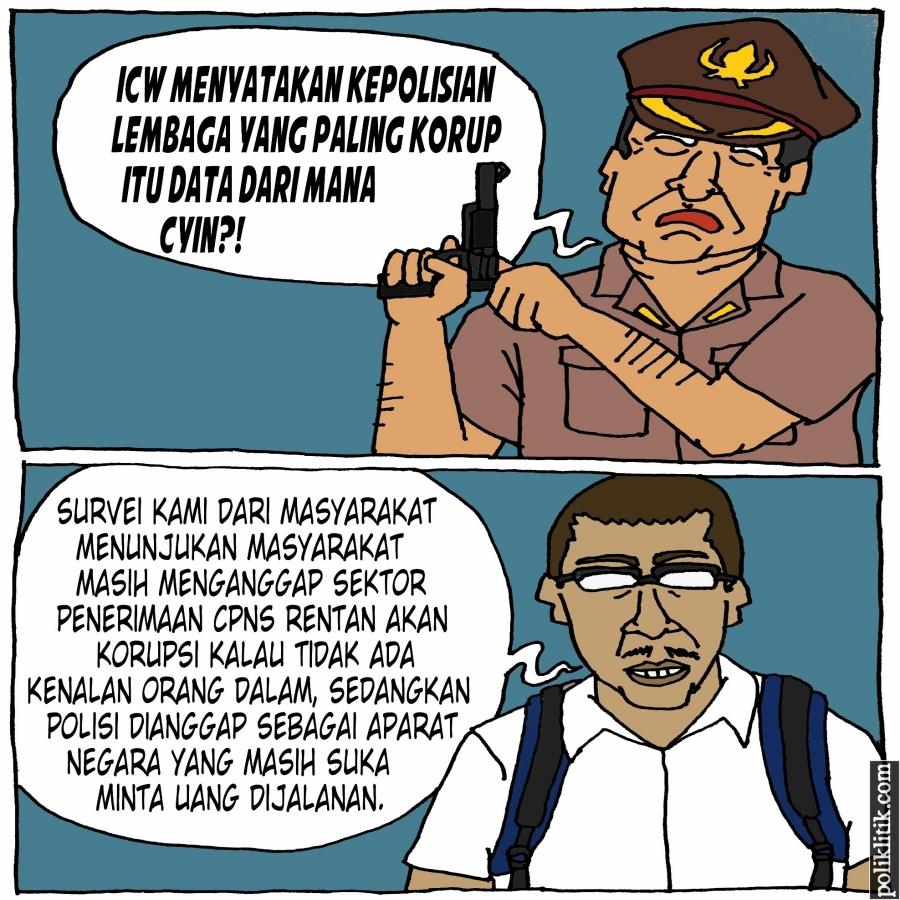Hasil Survei: Rekrutmen PNS dan Kepolisian Dianggap Paling Korup Oleh Masyarakat