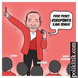 Jokowi Bermain Sulap di Peringatan Hari Anak Nasional