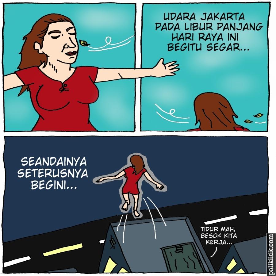 Libur Lebaran, Kualitas Udara Jakarta Masuk Kategori Baik