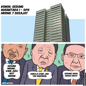 Gedung Nusantara I DPR Miring 7 Derajat