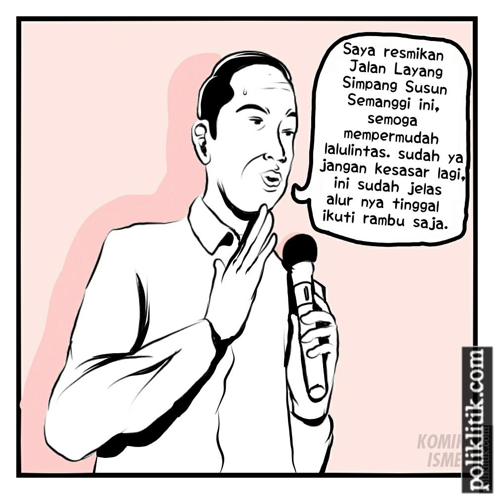 Presiden Jokowi Meresmikan Jalan Layang Simpang Susun Semanggi