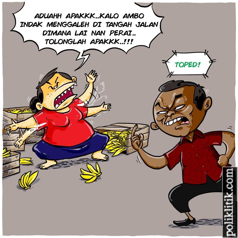 Viral Video Kadis Perdagangan Kota Padang Mengamuk ke PKL