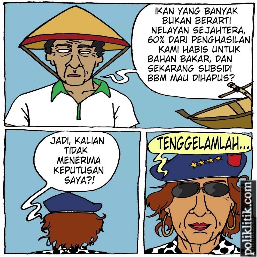 OMG, Ibu Susi Mau Hapus Subsidi BBM Untuk Nelayan!