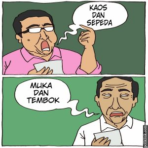 Fadli Zon Bikin Puisi Kaos dan Sepeda