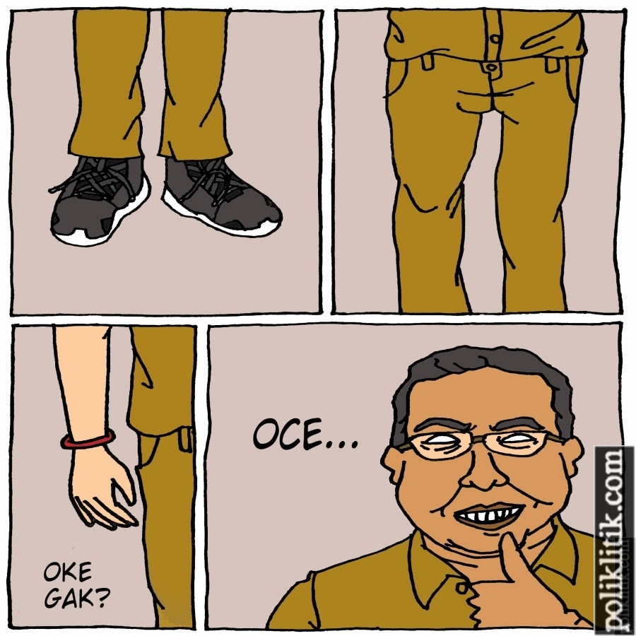 Anies-Sandi Salah Pakai Sepatu
