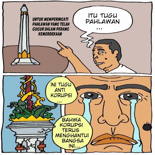 Korupsi Proyek Tugu Antikorupsi Riau