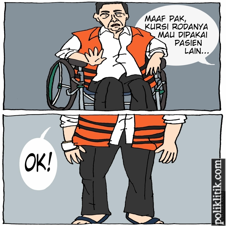 Setya Novanto Bangkit dari Kursi Roda Usai Diperiksa KPK