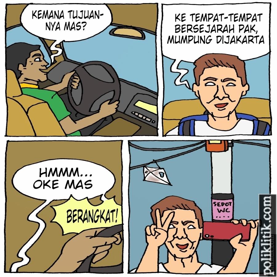 Tiang Lampu Setnov jadi Wisata Baru di Jakarta