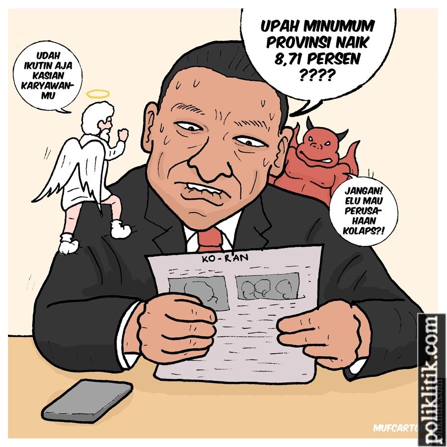 Upah Minimum Provinsi Naik 8.71 %