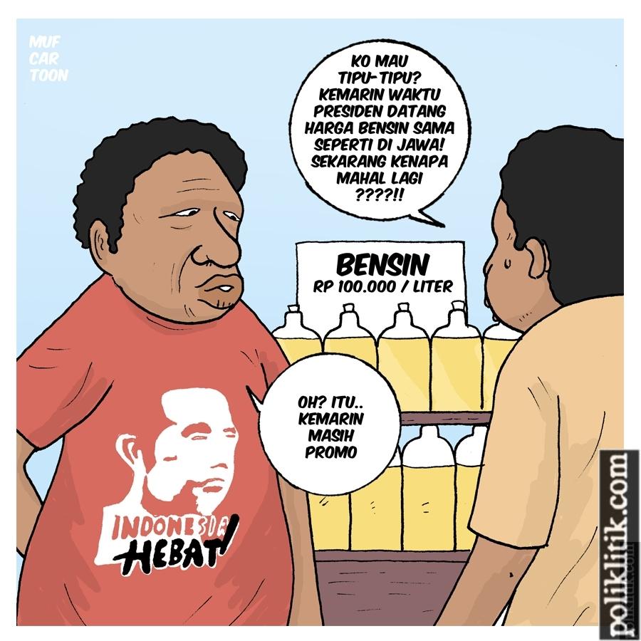 Di Papua, Harga BBM Normal Hanya Saat Jokowi Datang