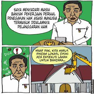 Jokowi Akui Banyak Kasus Pelanggaran HAM yang Belum Tuntas