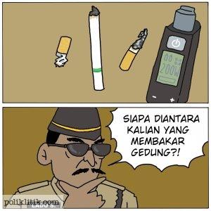 ulah rokok bakar kejagung