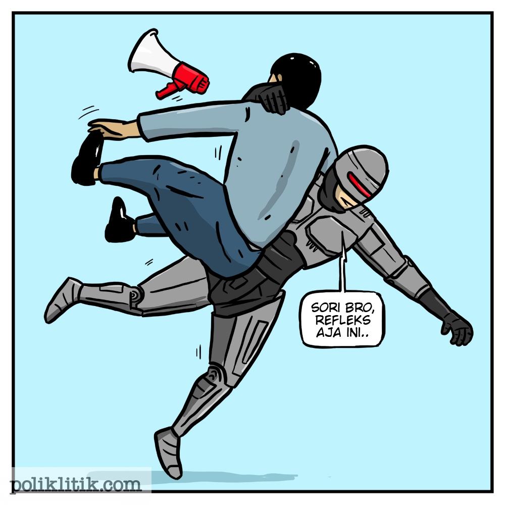 Polisi banting